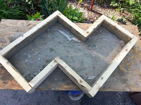 how to make a concrete garden bench hometalk diy chevron inspired concrete garden bench