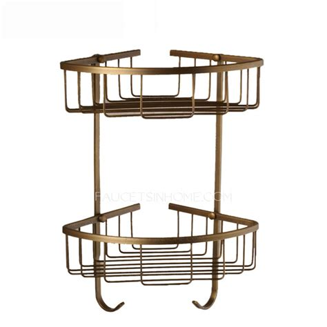 Metal Corner Shelf Bathroom by Triangle Metal Wire Bathroom Corner Shelves Wall