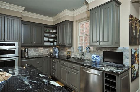 Painted Grey Kitchen Cabinets | painting kitchen cabinets grey quotes
