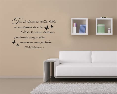scritte su pareti interne interni decori adesivi murali wall stickers e quadri