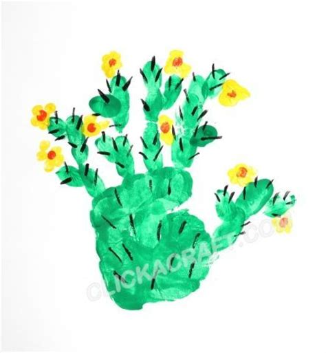 Cactus Papercraft - 25 best ideas about handprint on