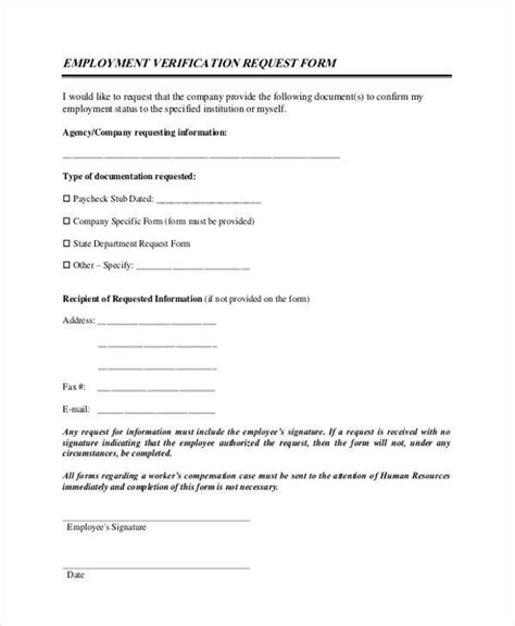 employment request form sle employment forms in pdf 34 free documents in