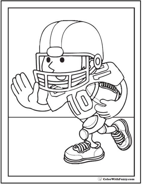 football coloring pages customize  print