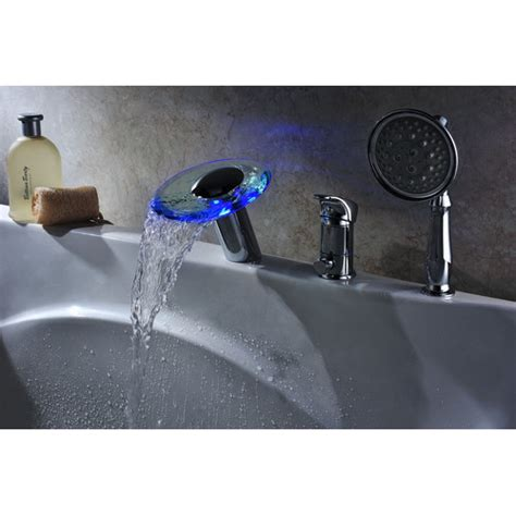 deck mount bathtub faucet with sprayer single handle deck mount tub faucet set with handheld
