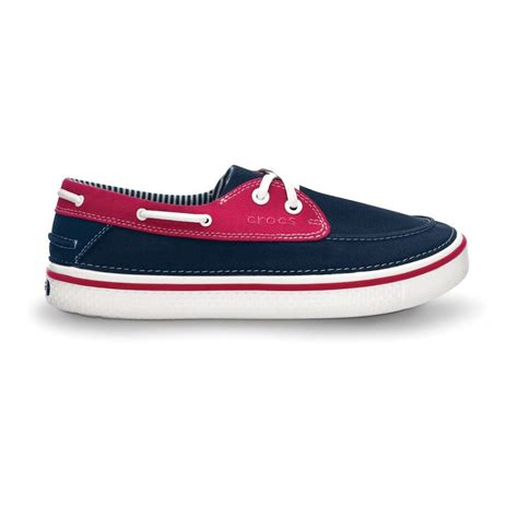 Crocs Hover Canvas Blue Navy Low crocs that look like boat shoes style guru fashion