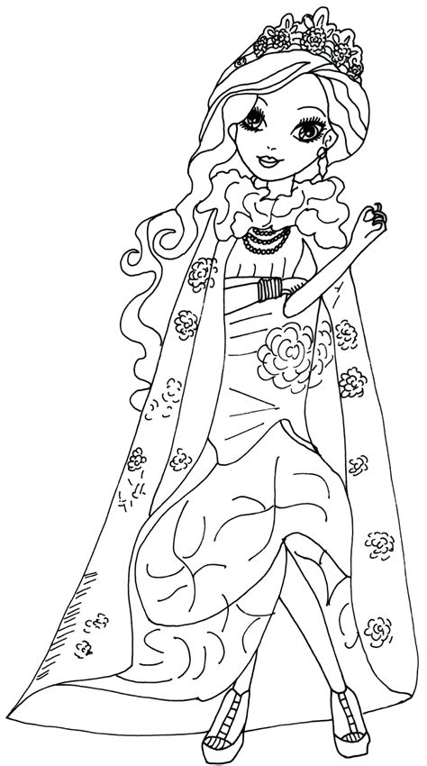 ever after high coloring pages legacy day free printable ever after high coloring pages briar