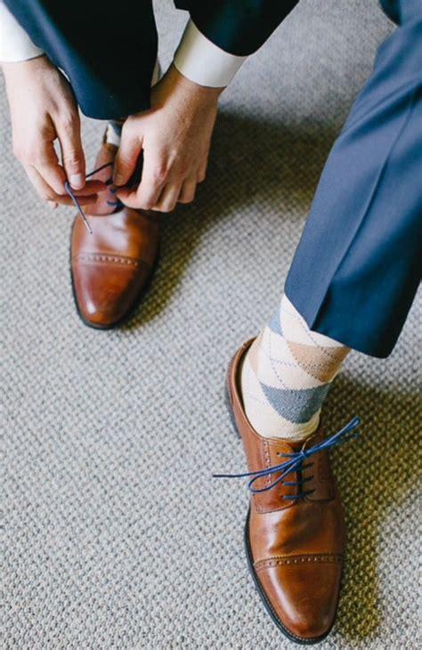 Braune Schuhe Hochzeit by Braune Schuhe Blaue Schn 252 Rsenkel Braun Blau Beige Raute