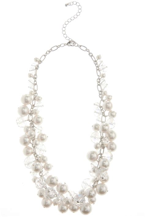 cluster bead necklace shaky cluster pearl and bead necklace necklaces cato fashions