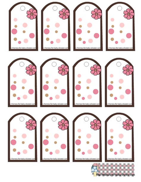 Free Printable Girl Baby Shower Favor Tags Free Printable Baby Shower Favor Tags Template