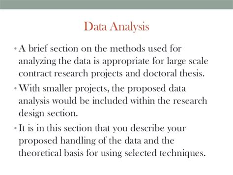 data section research proposal