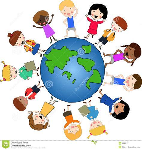 clipart mondo children around the world stock illustration illustration
