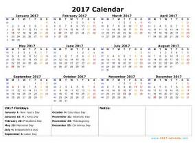 Calendar Template For Numbers by Printable 2017 Calendar