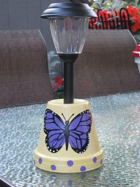 Butterfly Solar Light Holder Made By Angela Solar Lights Flower Pot Solar Light