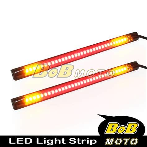 led motorcycle brake lights strips harley davidson motor rear brake turn signal integrated led light x2 ebay
