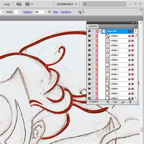 line art tutorial illustrator cs6 adobe design and brushes on pinterest