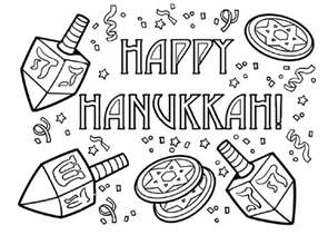 menorah coloring page free printable hanukkah coloring pages for best