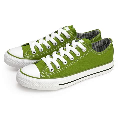 vancl classic vancl canvas shoes lime green sku