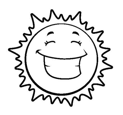 smiling sun coloring page happy sun coloring page coloringcrew com
