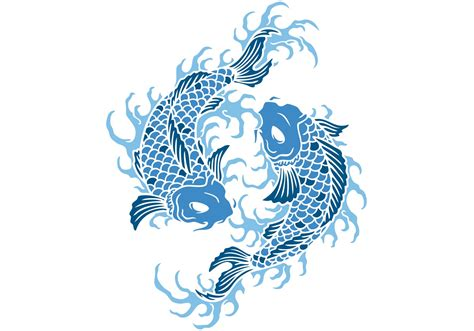 koi fish vector free vector art at vecteezy