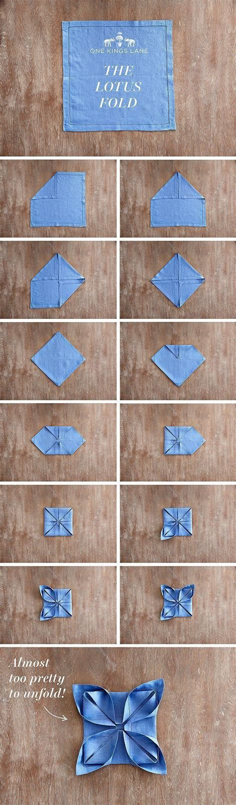 Paper Folding Ideas - 25 napkin folding techniques that will transform your