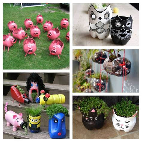 Garden Decoration Craft Ideas by 45 Crafts Made Of Plastic Bottles For The Garden Simple