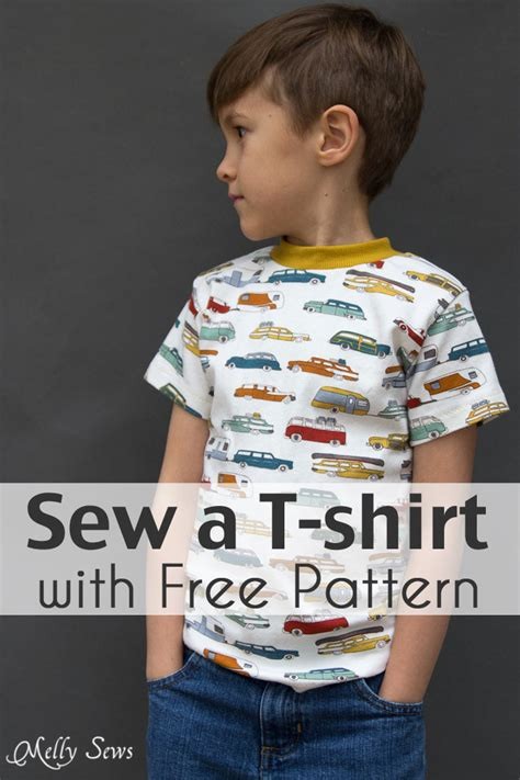 free pattern t shirt sew a t shirt for boys with free pattern melly sews