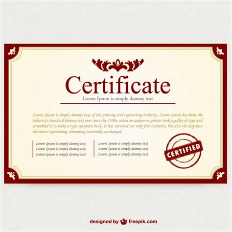 certificate layout design template certificate border vectors photos and psd files free