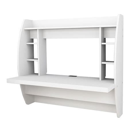 prepac wall mounted floating desk with storage in black prepac floating wall mounted desk with storage in white