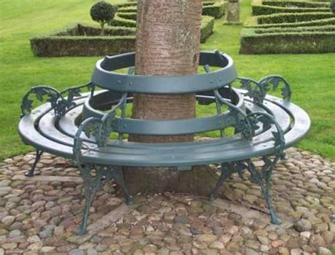 circular tree bench plans circular shaped tree seat from lost art featuring