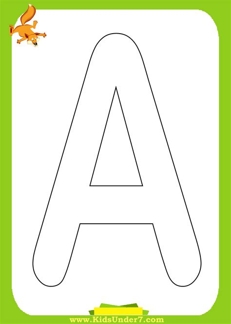 free coloring pages of single letter