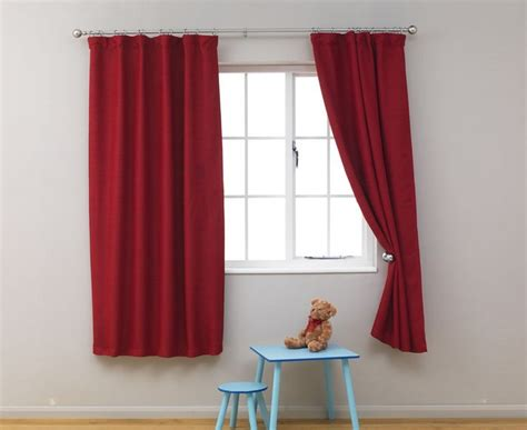 curtains short short colour red curtains best curtains design 2016