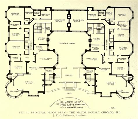 mansion plans floor plan of the manor house chicago floor plans