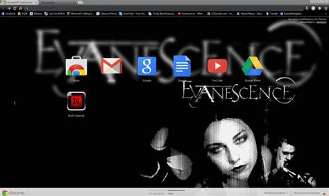 themes google chrome rock evanescence google chrome theme by unholydemonix on deviantart