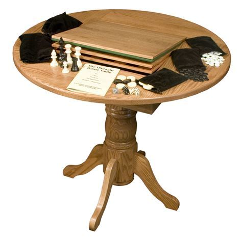 Small Game Table   Round Game Table   Amish Furniture Factory