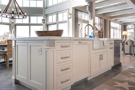 Kitchen Island Nh White Custom Cabinets In Lake Winnipesauke New Hshire