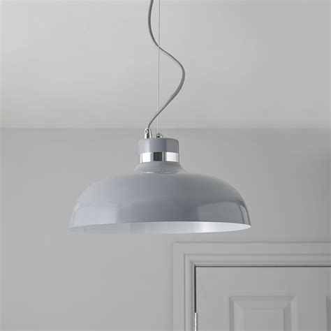 holman grey pendant ceiling light departments diy at b q