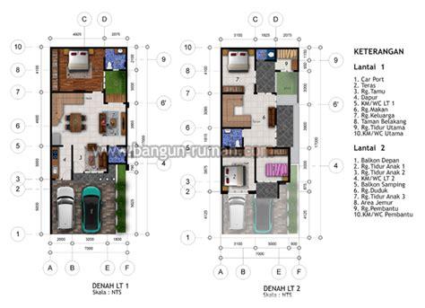 Per Meter Bangunan Bertingkat Desain Rumah Hook Lebar Tanah 7 Meter X 17 Meter Desain