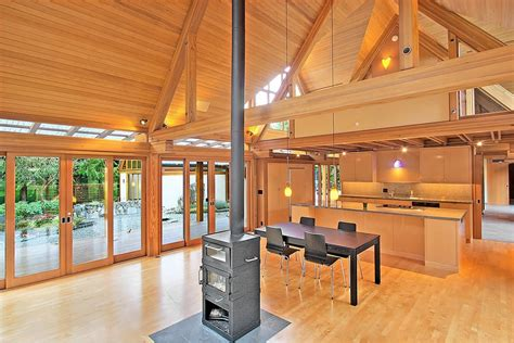 wood interior homes cabin chic mountain home of glass and wood
