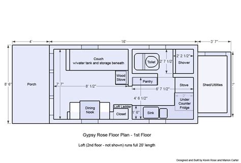 tiny homes on wheels floor plans building