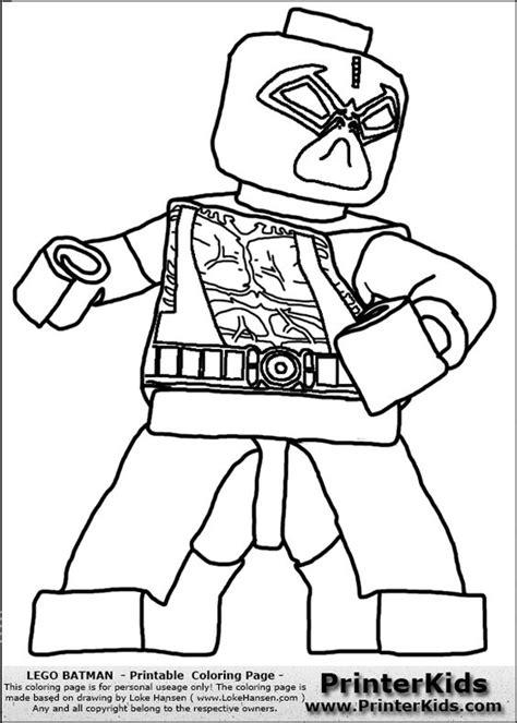 lego dc coloring pages color pages for batman s villians lego lego batman bane