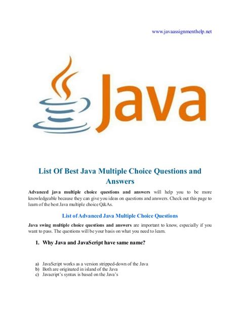 java tutorial mcq questions and answers java multiple choice questions and answers