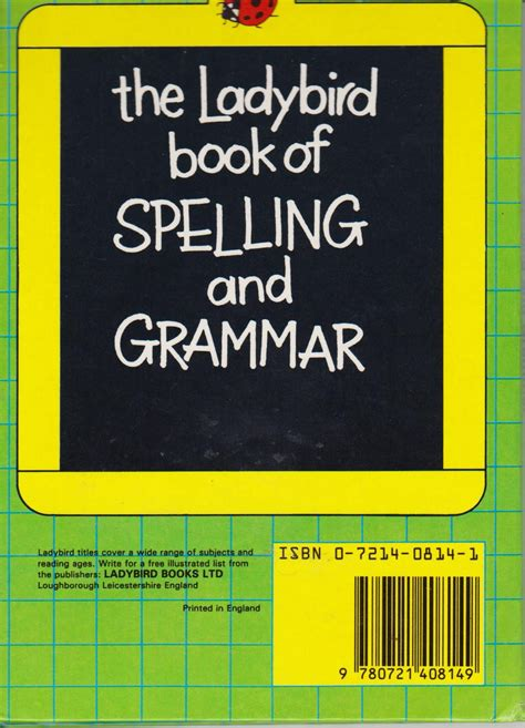 reference books grammar punctuation spelling and grammar ladybird reference book edition