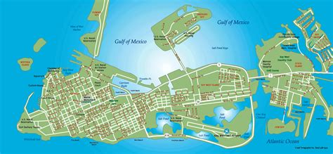 key west florida map key west tourist map key west florida mappery