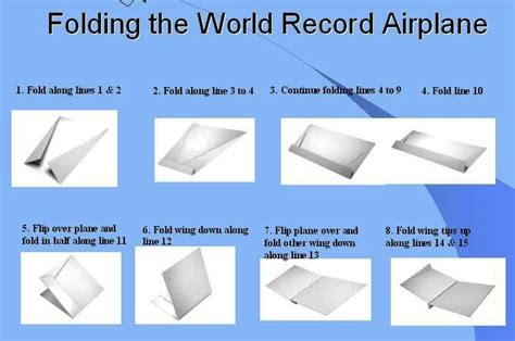 Paper Folding World Record - how to fold the record setting glider style paper airplane