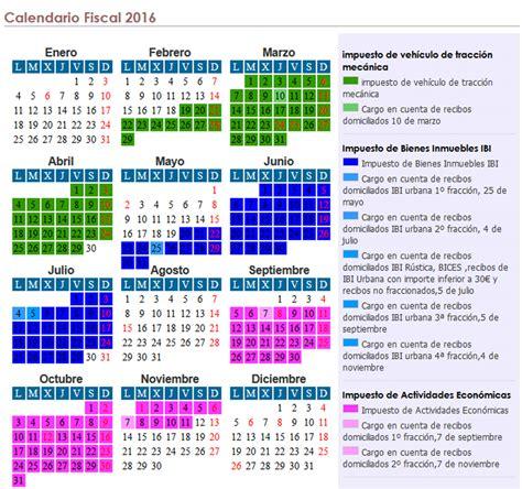 calendario de impuestos 2016 guatemala excmo ayuntamiento de navalvillar de pela calendario