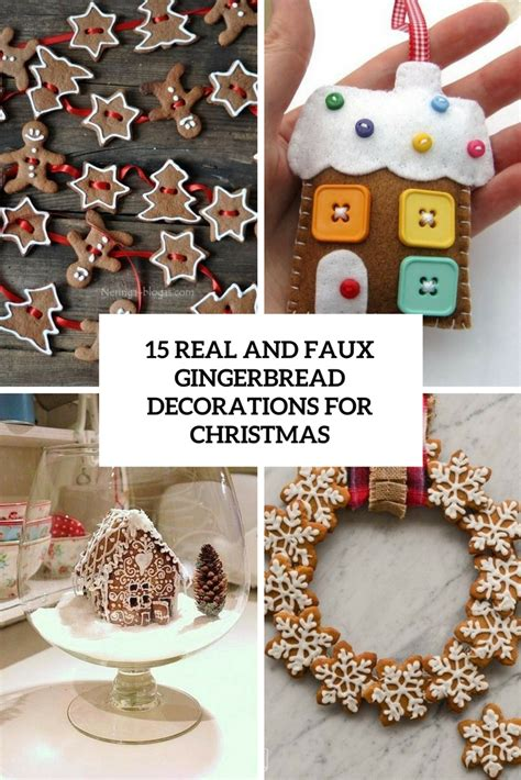 gingerbread home decor 15 real and faux gingerbread decorations for christmas