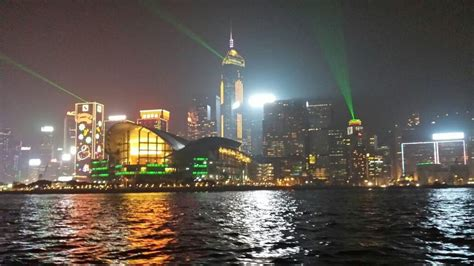 hong kong light cruise hong kong symphony of lights harbor cruise with drinks