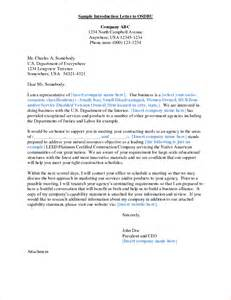 Business Letter Format Introduction 8 Sample Letters Of Introduction Memo Formats