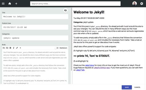 jekyll layout variables 10 steps to configure jekyll with netlify as a cms mvp space