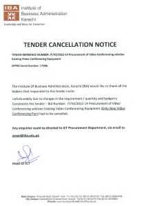 tender cancellation notice
